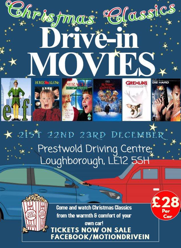 christmas drive in cinema Leicester