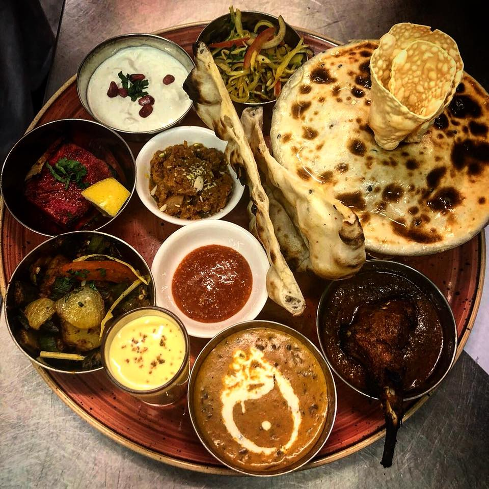 thali Indian food leicester