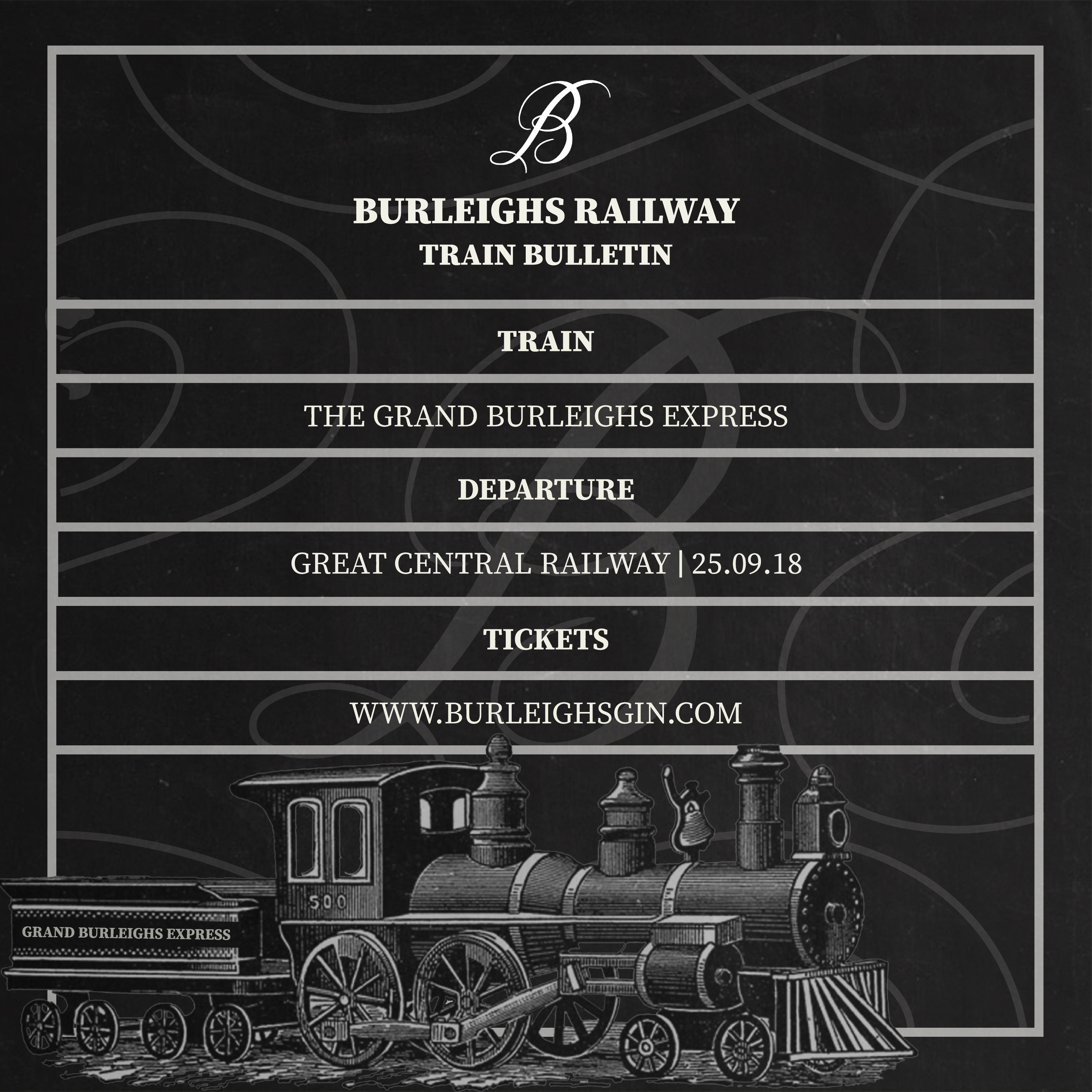 burleighs gin train