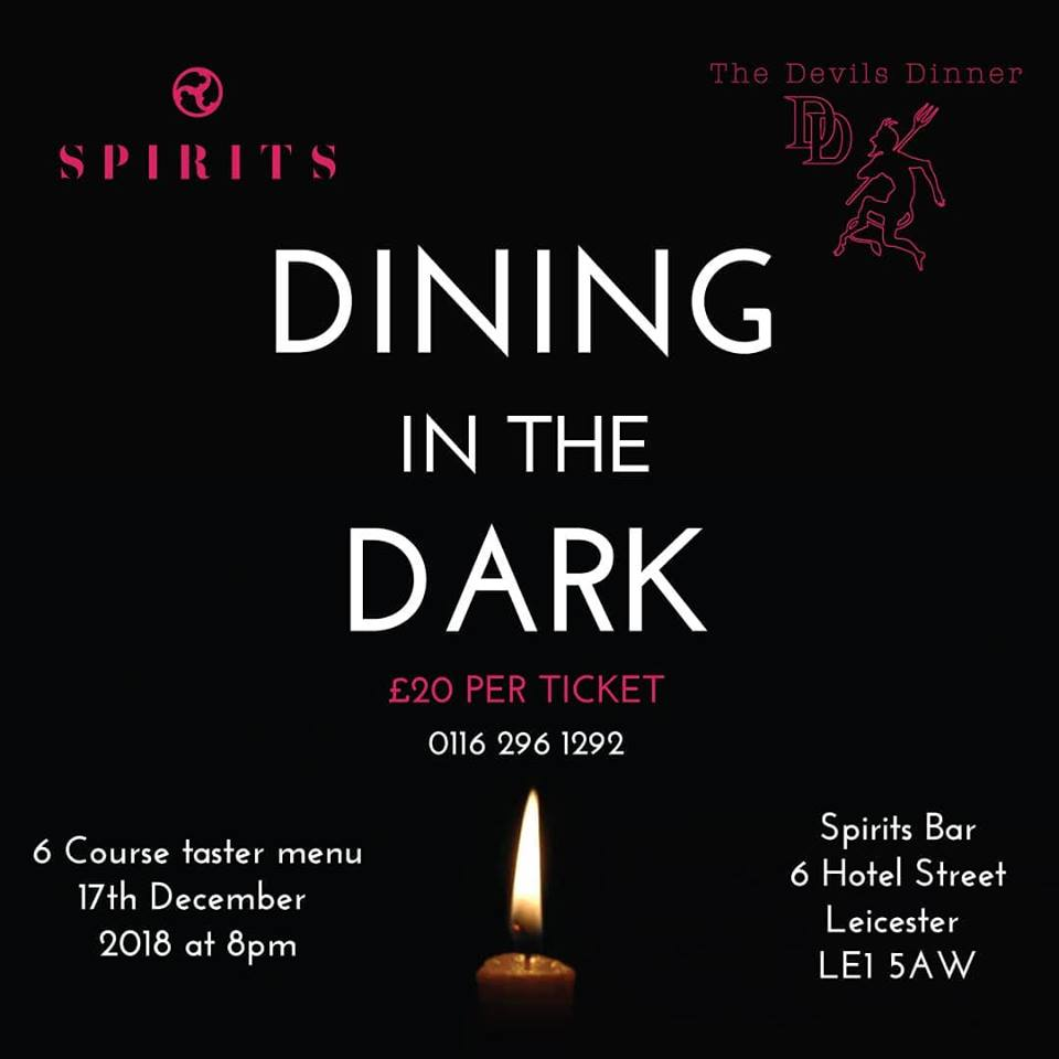 dining in dark leicester