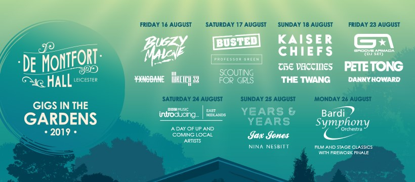 gigs in the gardens leicester
