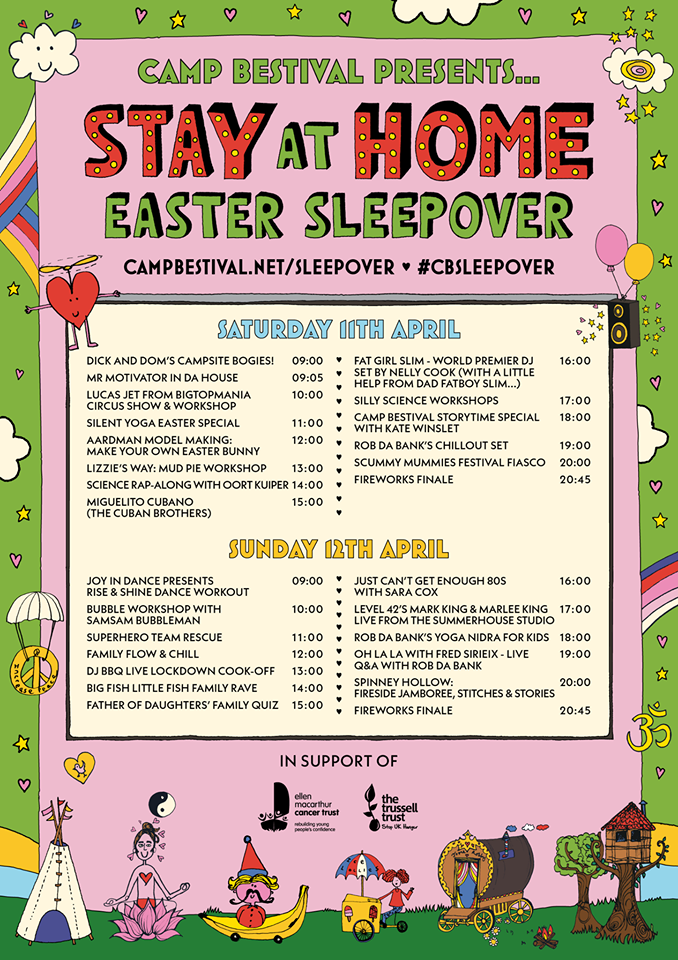 stay home camp festival