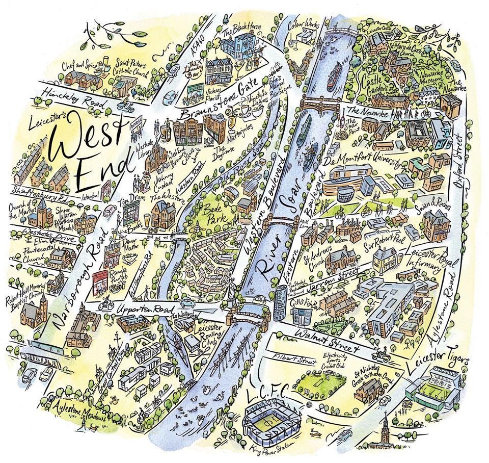 Ian Mitchell illustration leicester
