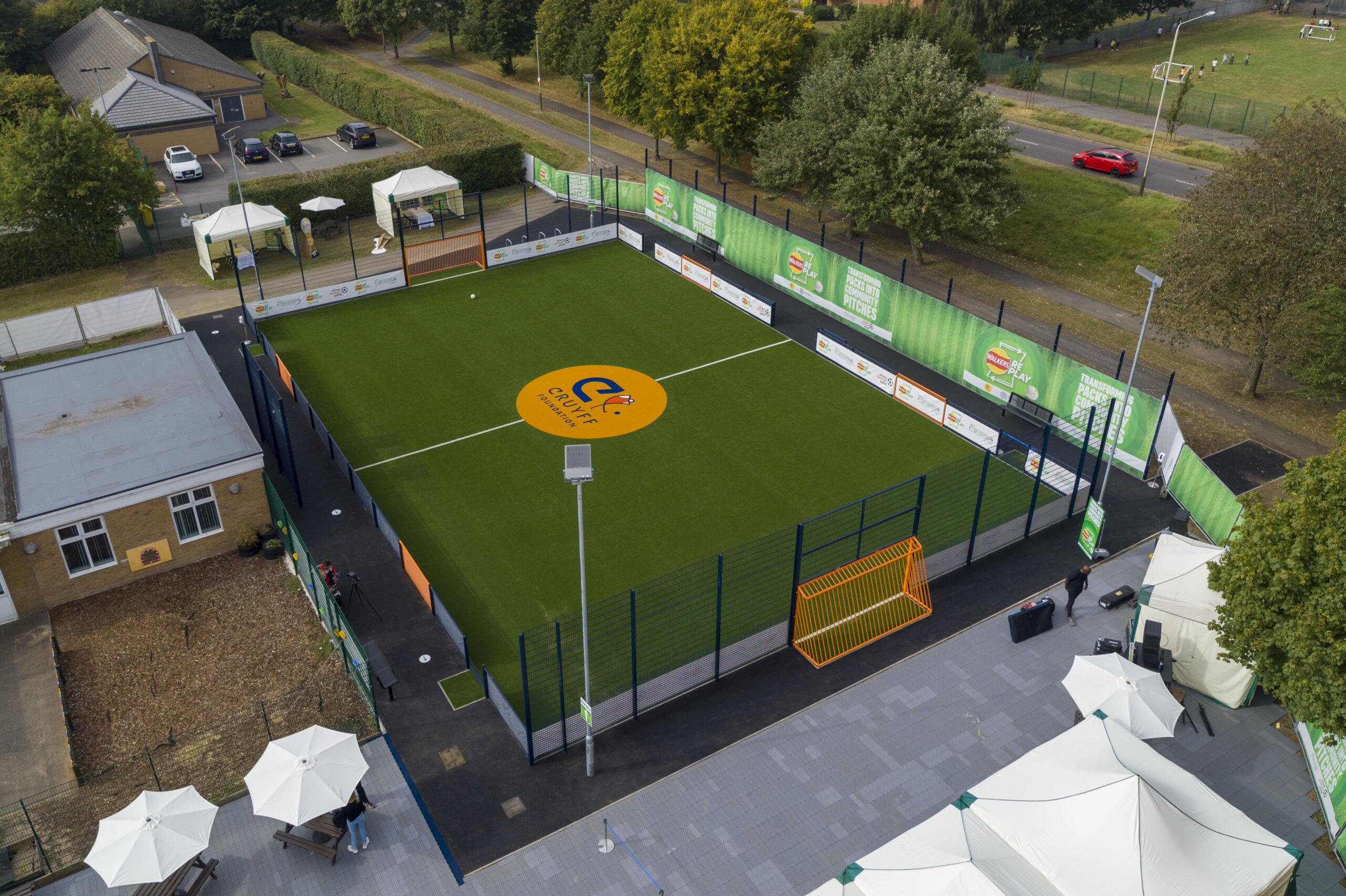 new parks football pitch gary lineker leicester